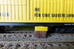 Saugbürste am Gleis